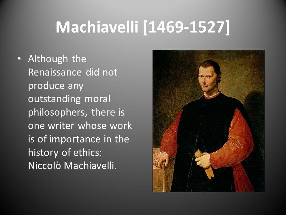 Machiavelli [1469-1527]